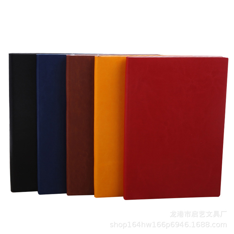 Basic A5 Faux Leather Notebook for Men and Women