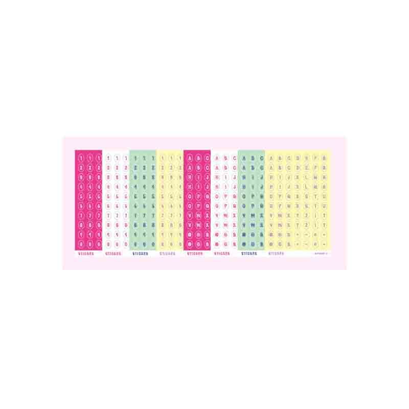 Beautiful Color Palette Letters and Numbers Sticker Sheets for Journalling