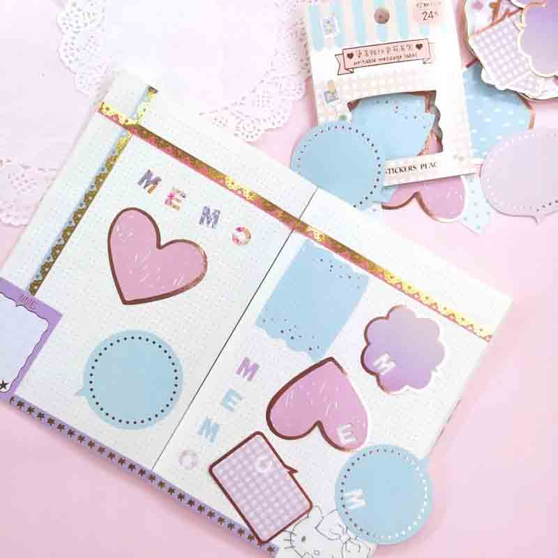 Happy Pastels Stickers for Attaching Onto Notebooks