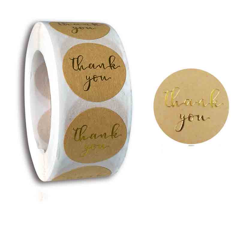 Circular Compliments Sticker Roll for Packages