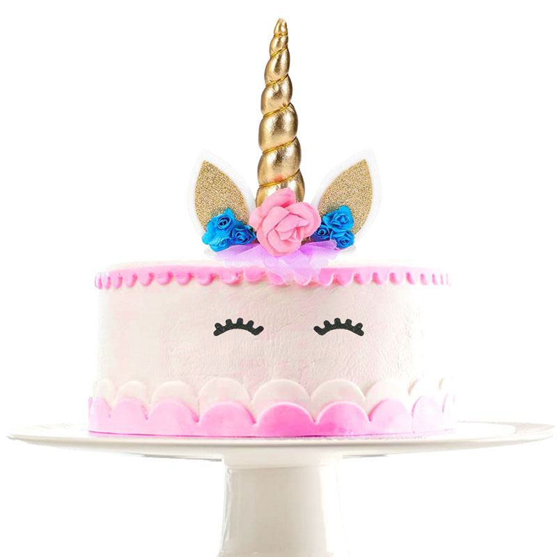 Birthday Cake Decoration for  Unicorn Themed  Party