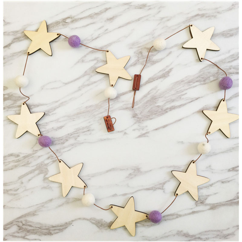 Star-Shaped Beads String Tassels for Home Decors