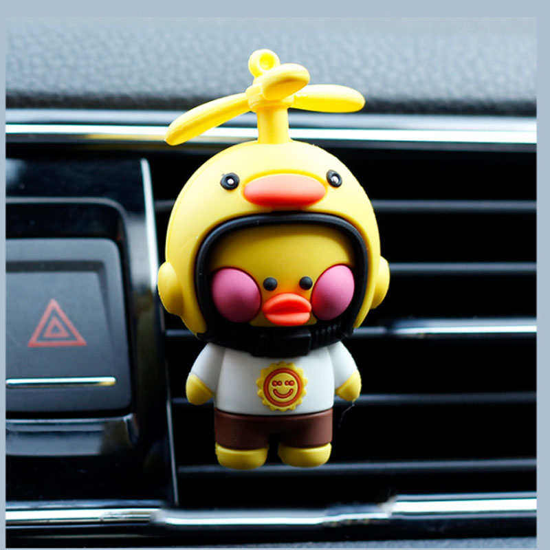 Dainty Duck Air Vent Car Perfume Holder for Cute Arometherapy