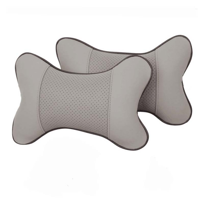 Fluffy and Smooth PU Leather Neck Pillows for Comfy Headrests