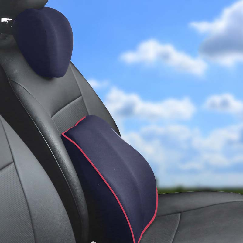 Flashy Memory Foam Neck Pillow for Preventing Stiff Necks on a Long Ride