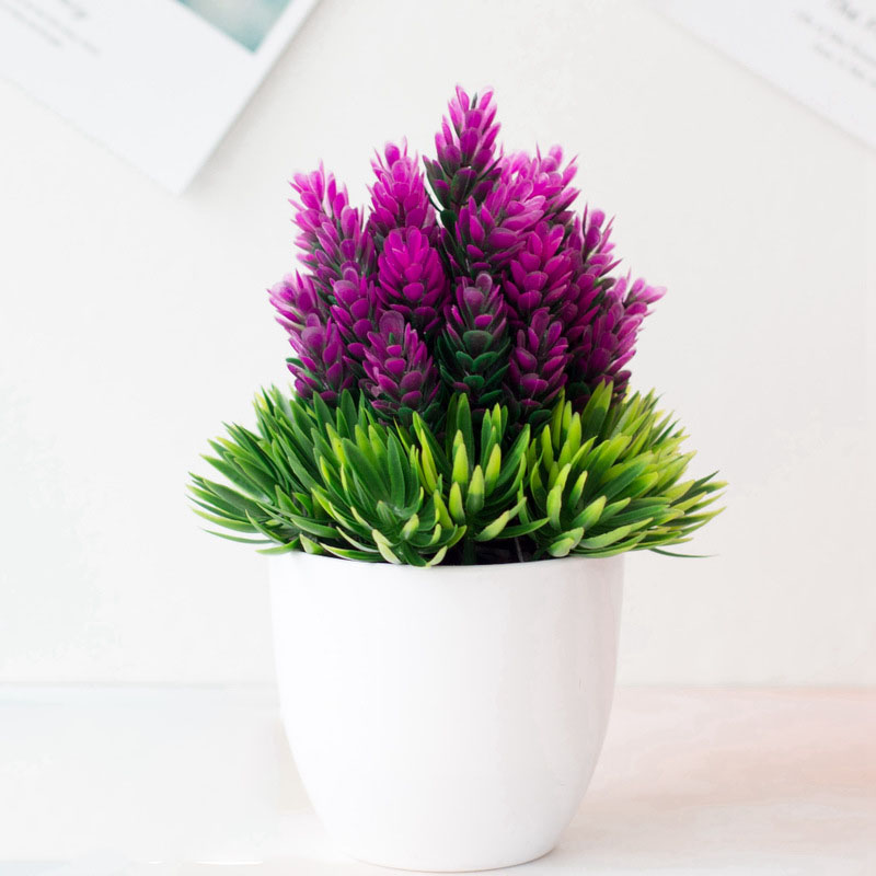Potted Plastic Plants for Table Decoration