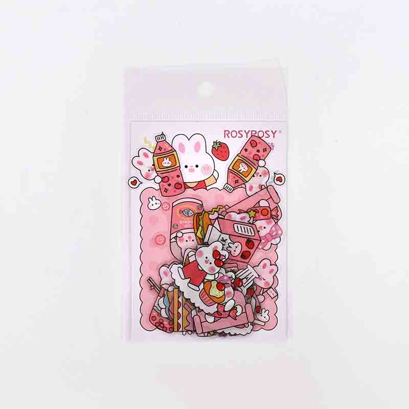 Cute Girl and Bunny Sticker Collections for Diaries