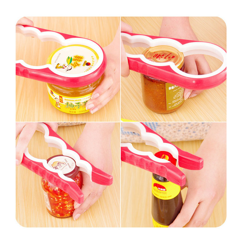 Colorful Multi-Size Can Opener for Hard to Open Jars