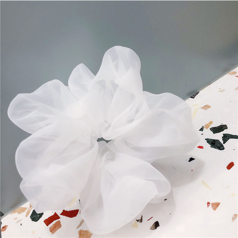 Large Chiffon Scrunchie For Ragged Style Outfit