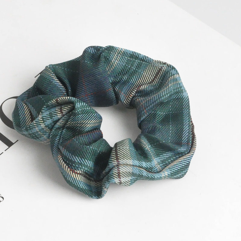 Casual Plaid Scrunchies for Laidback Ponytail