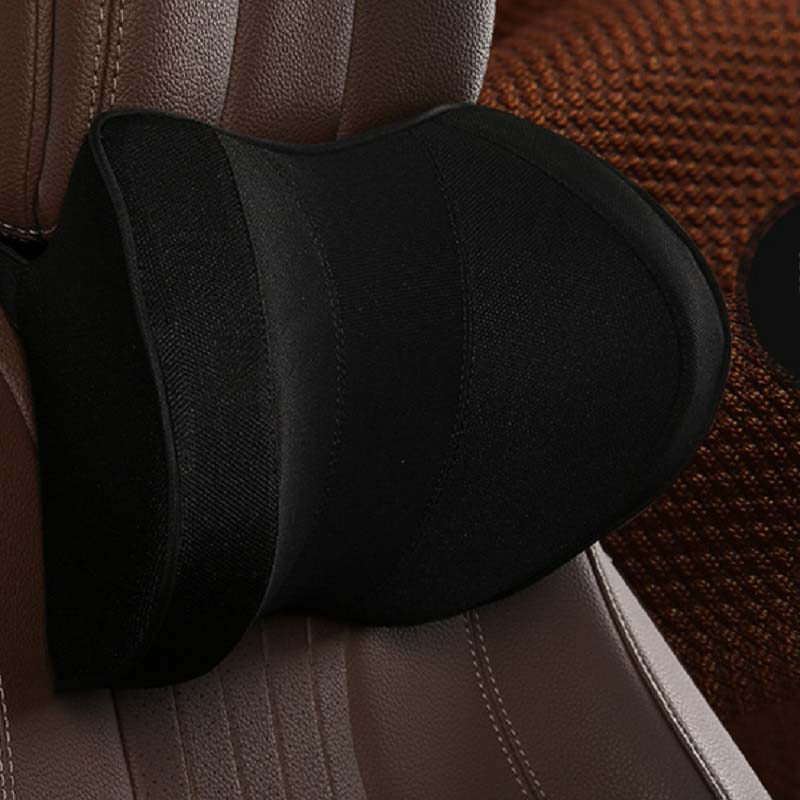 Comfy PU Leather Neck Pillows with Memory Foam for Long Rides