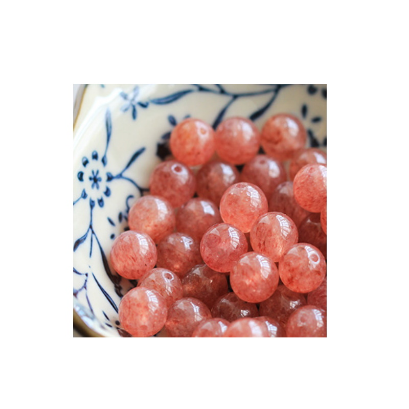 Round Strawberry Loose Beads for DIY Bracelet