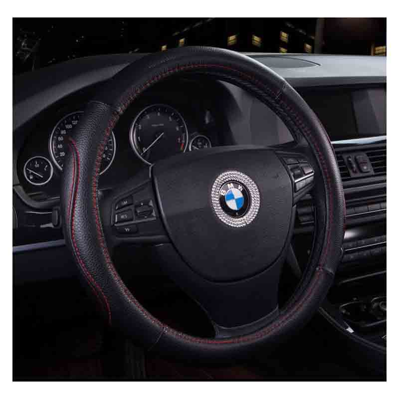 Smooth Synthetic Leather Steering Wheel Cover for Decorating Your Car