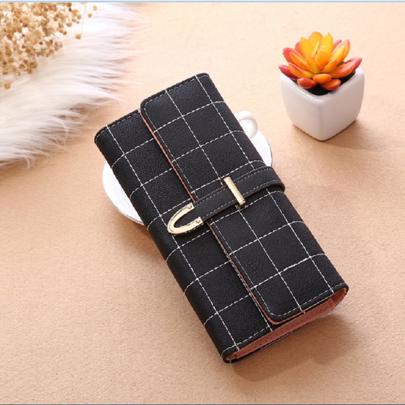 Frosted Look Long Wallet for Vintage Fashion