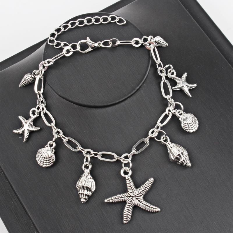 Artistic Sea Vibe Pendant Fashion Anklet for Ladies