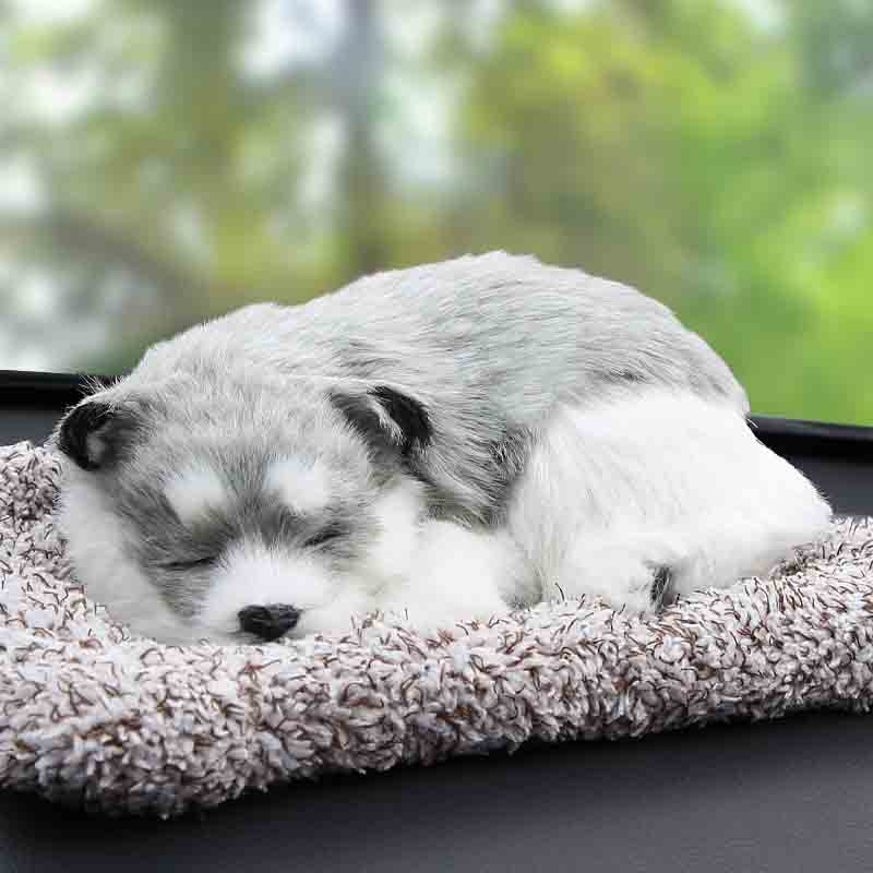 Sleeping Furry Plush  Animals for Car Accessories