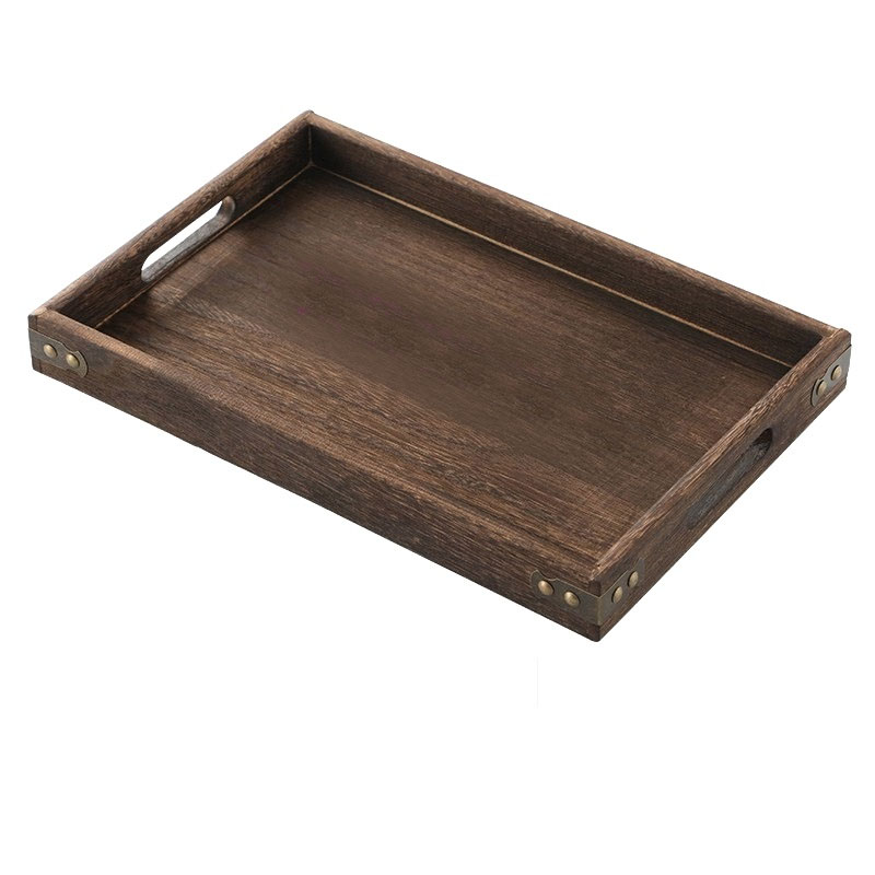 Distressed Wooden Tray for Serving Guests or Display