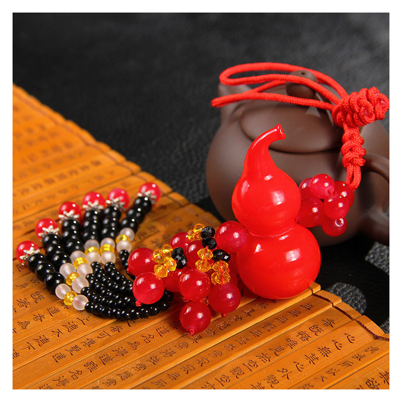 Beaded Gourd Mirror Charm for Cars