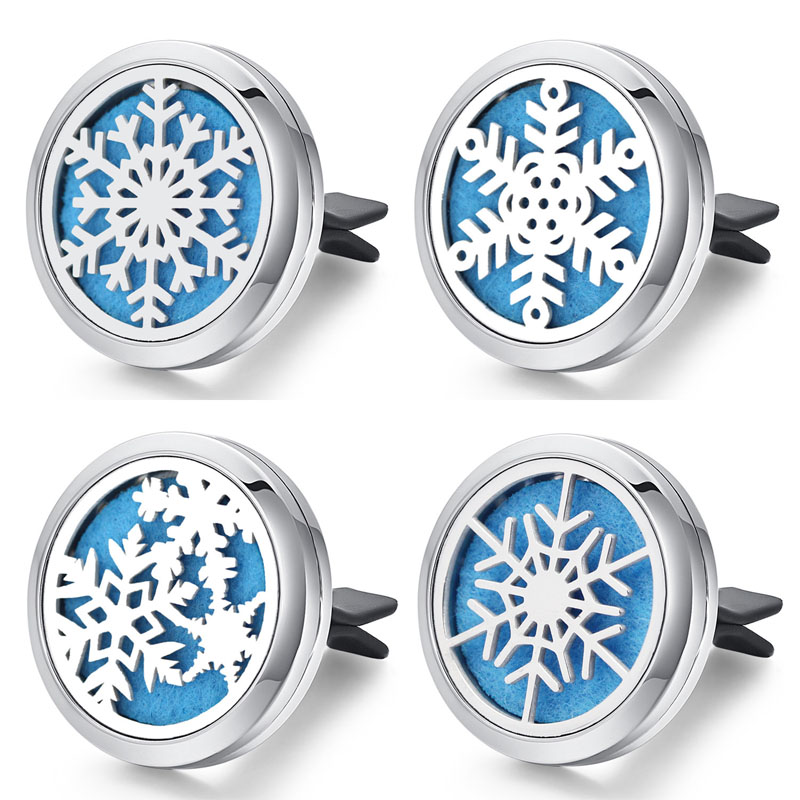 Snowflakes Clipped Car Perfume Holder for Fragrant Cars