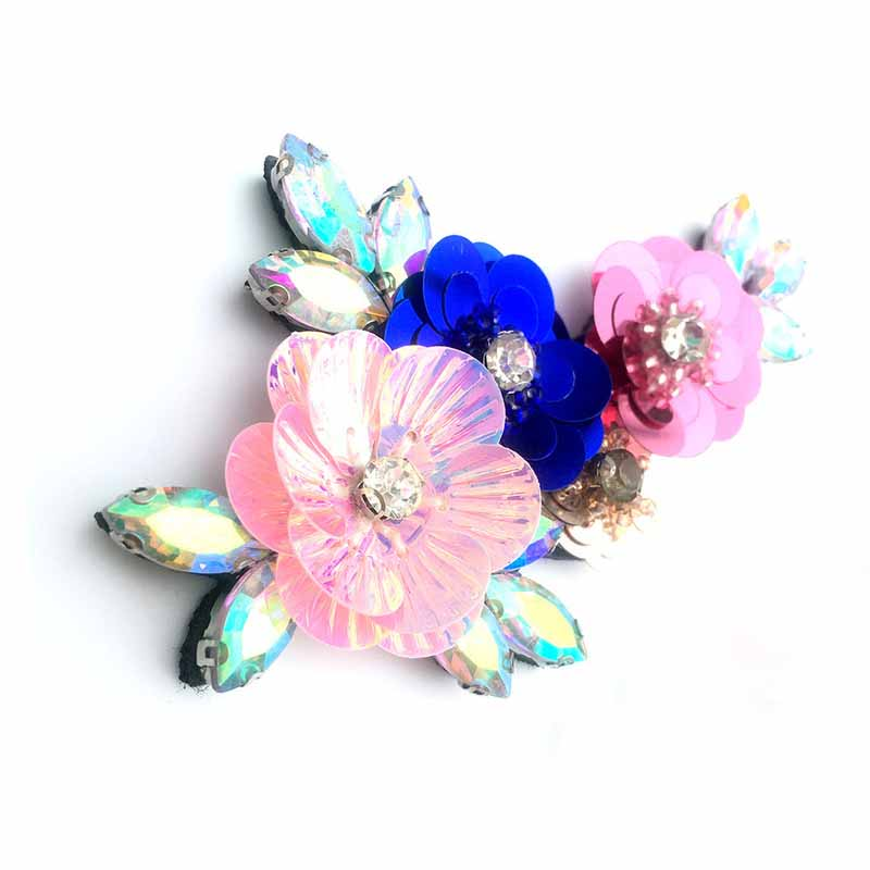 Cute Sequins Floral Patch for Hats