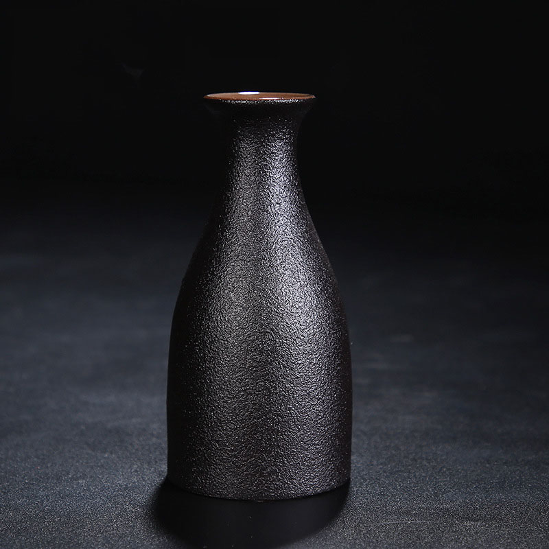 Frosted Black Vases for Dispensing Wine and Other Beverages