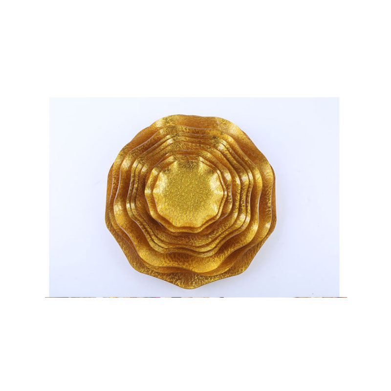 Acrylic Gold Fruit Tray for Tabletop