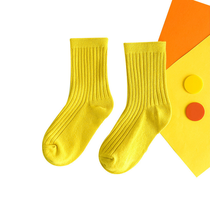 Bright Color Combed Cotton Socks for Kids