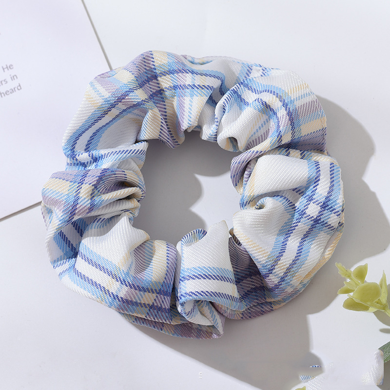 Plaid Scrunchies for Messy Updos