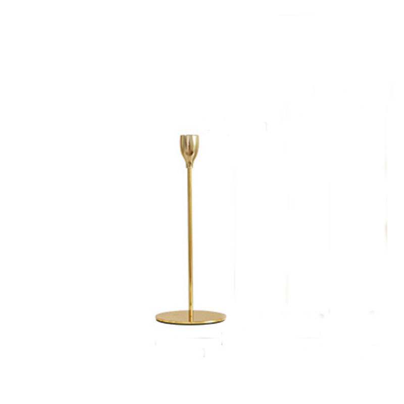 Golden Candlestick Holder for Gold-Themed Interiors