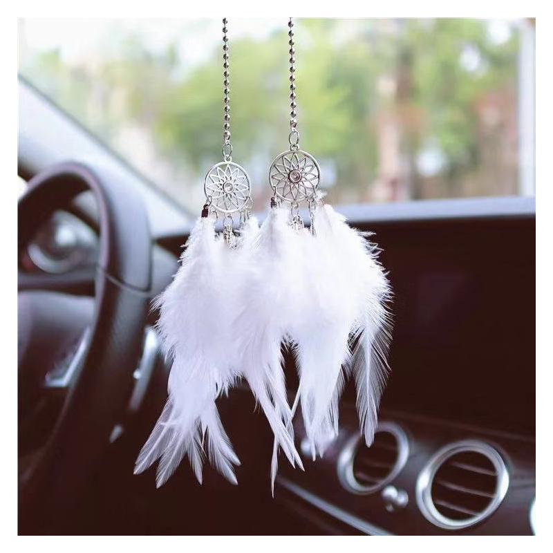 Dream Catcher Rearview Mirror Decoration for Dreamy Travel
