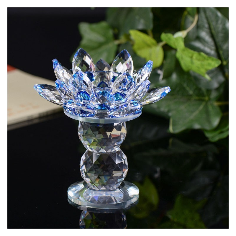 Crystal Lotus Candle Holder for House Decorations