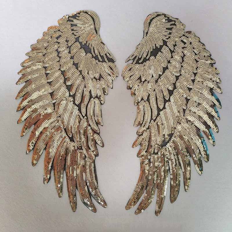 Cool Angel Wings Sequins Patch for Leather Jackets