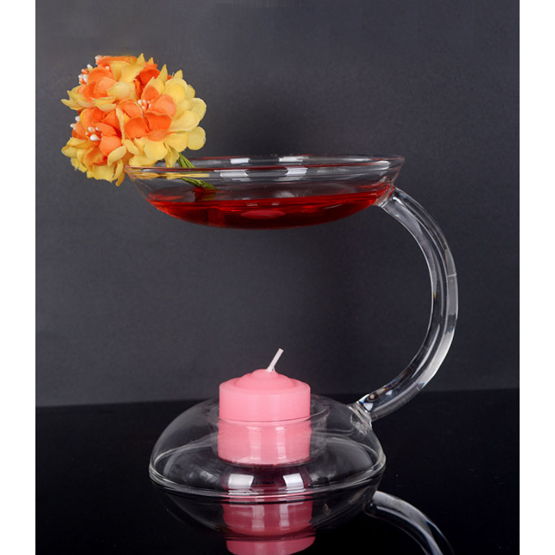 Fancy Glass Incense Oven Candle Holder for Elegant Aromatherapy