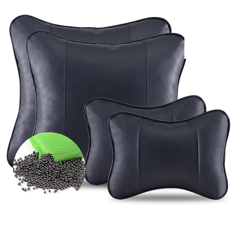 Modern Faux Leather Pillow for Car Seat