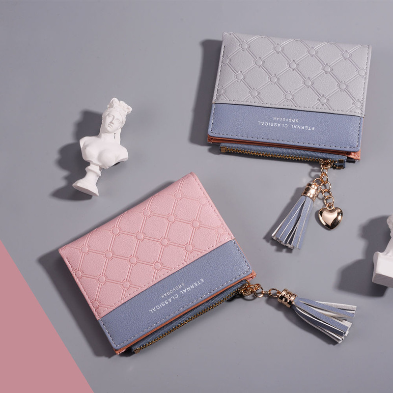 Dainty Short Wallet with Tassel for Ladies