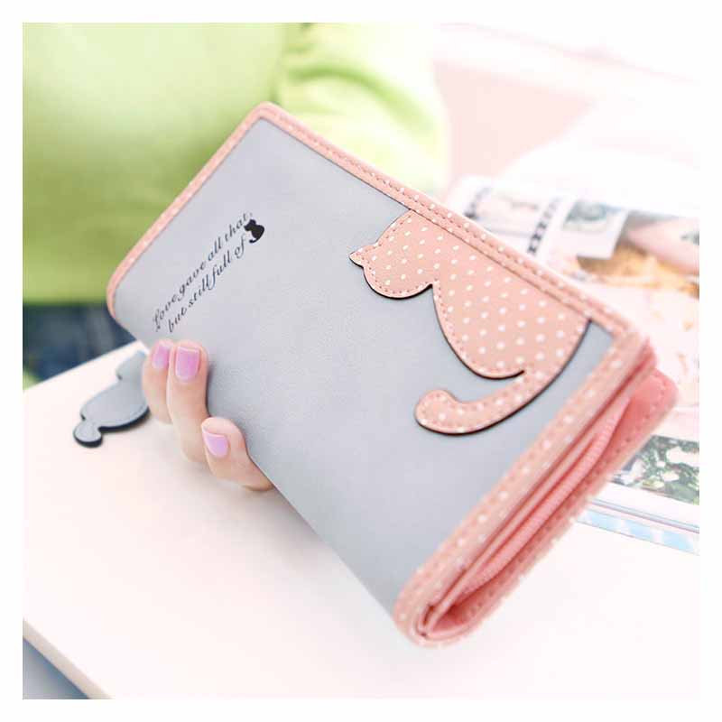 Cat-bordered Long Zippered Wallet for Cat-lovers