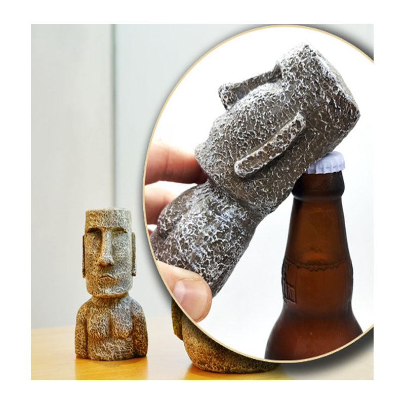 """Stone Head """"Moai"""" Bottle Opener for Reminder of Travel to Easter Island"""