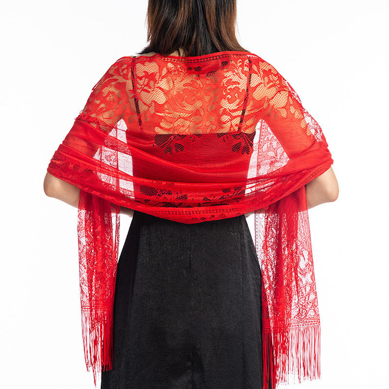 Intricate Lace Shawl for Parties