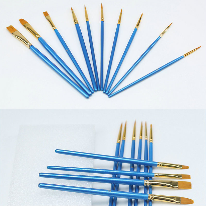 Simple Blue Paint Brush Set for Painting