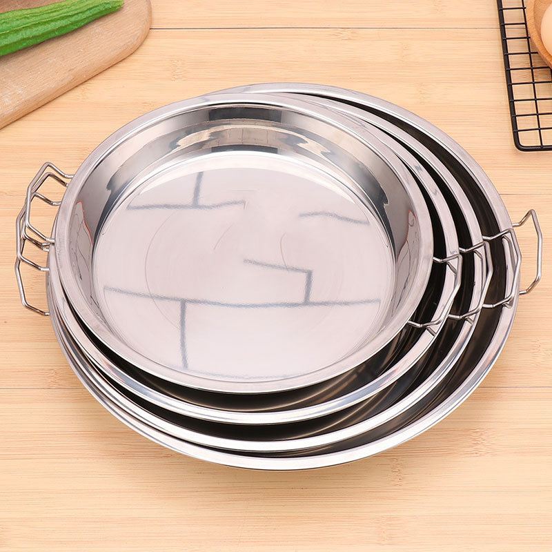 Standard Stainless Steel Flat Bottom Pan for Cooking