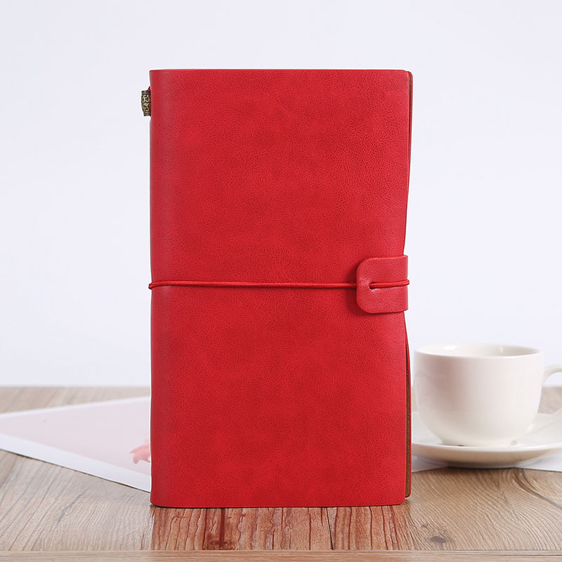 Retro Leather Notebook for Travel
