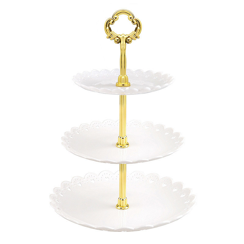 European-Style 3-Tier Dessert Stand for Tabletop