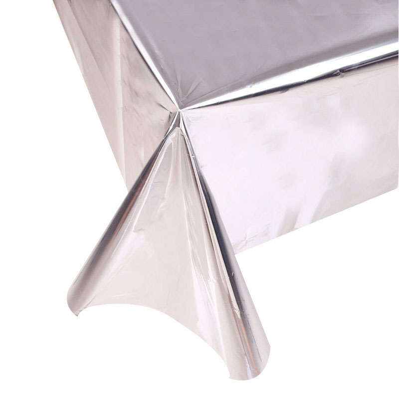 Glossy Aluminum Foil Tablecloth for Party Decor