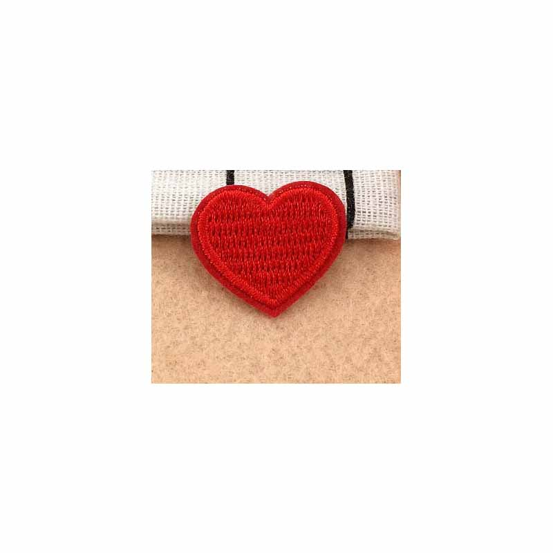 Classic Black and Red Hearts Embroidered Patch for Personalizing Things
