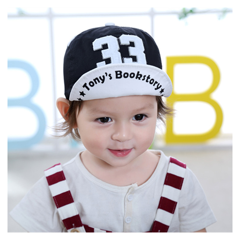 Cute 33 Tony's Bookstory Embroidered Baseball Cap for Little Boys