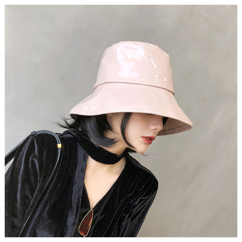 Dashing Faux Leather Bucket Hat for Street Style Fashion