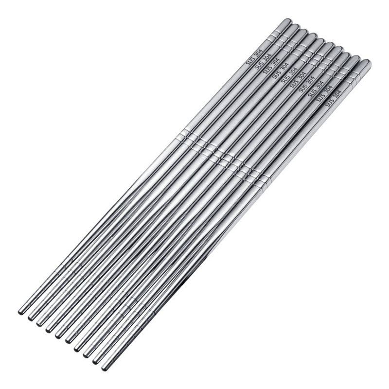 Stainless Steel Round Chopsticks for Chinese Food