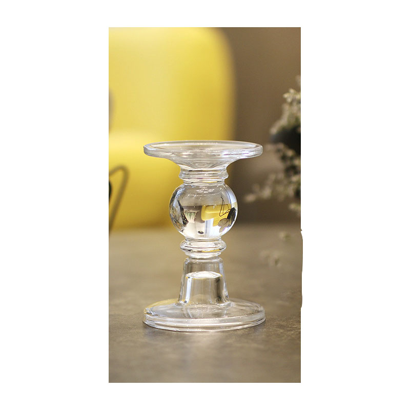 Voguish Glass Candle Stick for House Decorations