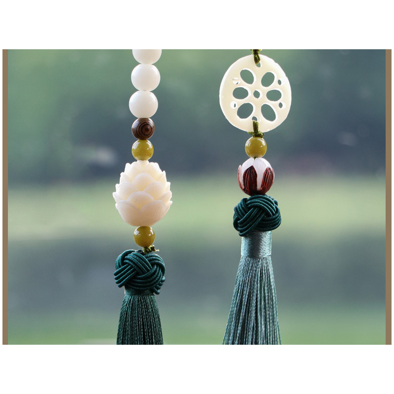 Beaded Tassel Car Rearview Mirror Accessories for Daily Travel
