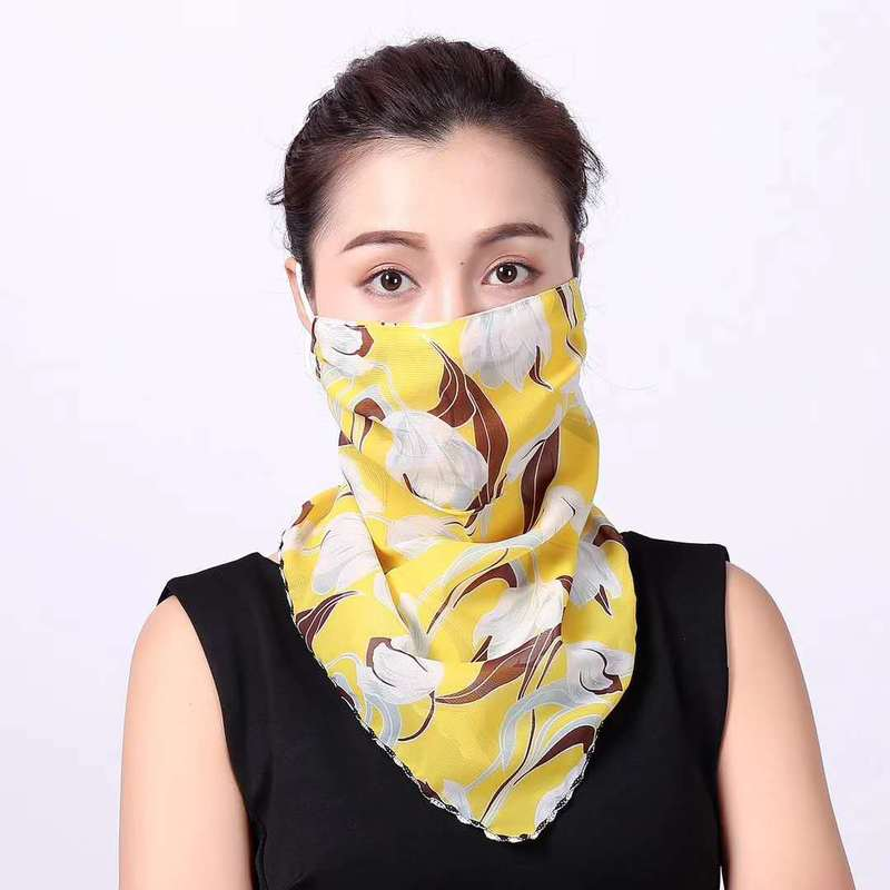 Triangular Printed Scarf for Sunscreen